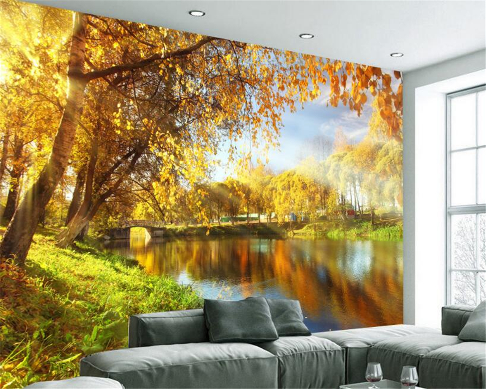 Beibehang Custom Photo Wall Mural 3d Wallpaper Luxury: Wallpaper Natural Beauty Promotion-Shop For Promotional
