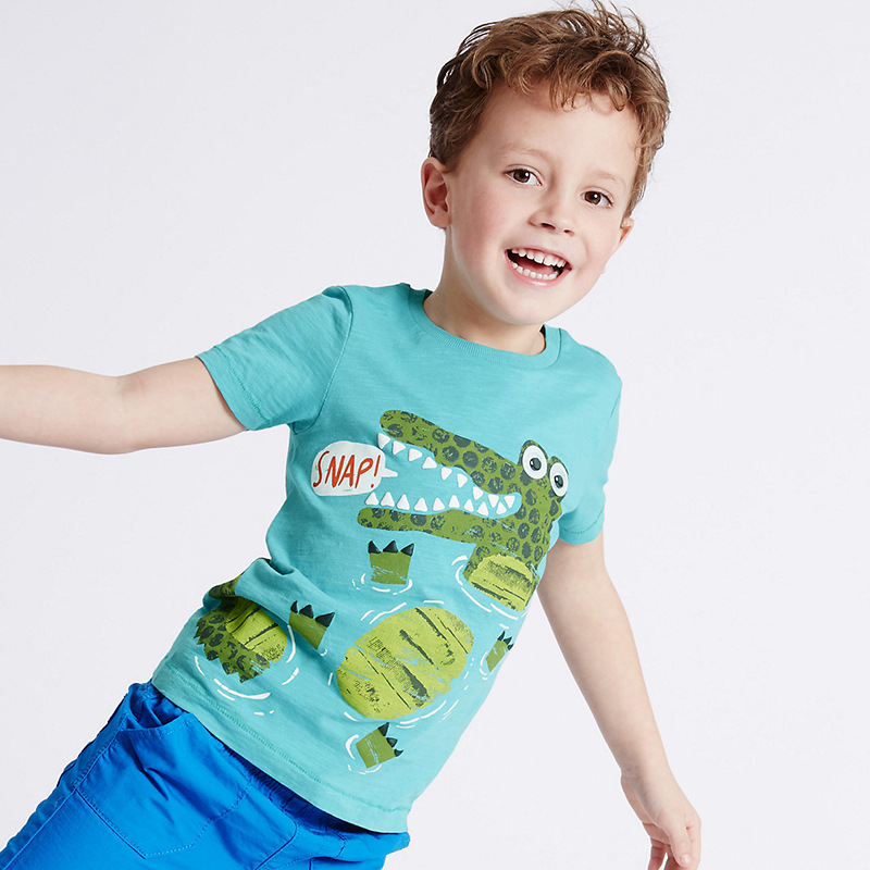 HTB1XUFfXb1YBuNjSszhq6AUsFXa0 - brand 2018 new fashion kids clothing 100%cotton blouse childrens clothes baby boy t shirts boy's top tee cartoon car Dinosaur