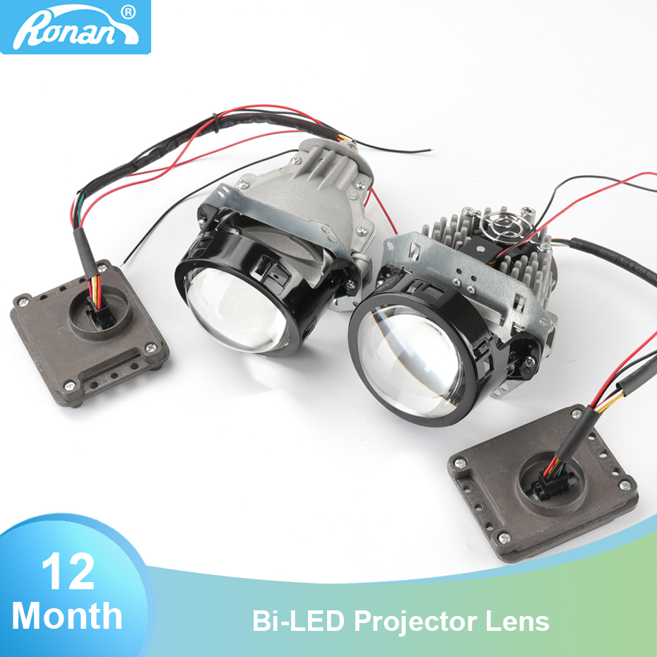 Ronan 3.0 pouces Bi-projecteur led lentille hella trou 5500 k puces led avec chauffeur 35 w 12 v phare de voiture pour la voiture bricolage rénovation