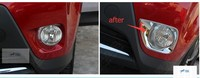 For TOYOTA RAV4 2013 2014 2015 ABS Front Rear Fog Light Lamp Cover Trim 4pcs Set