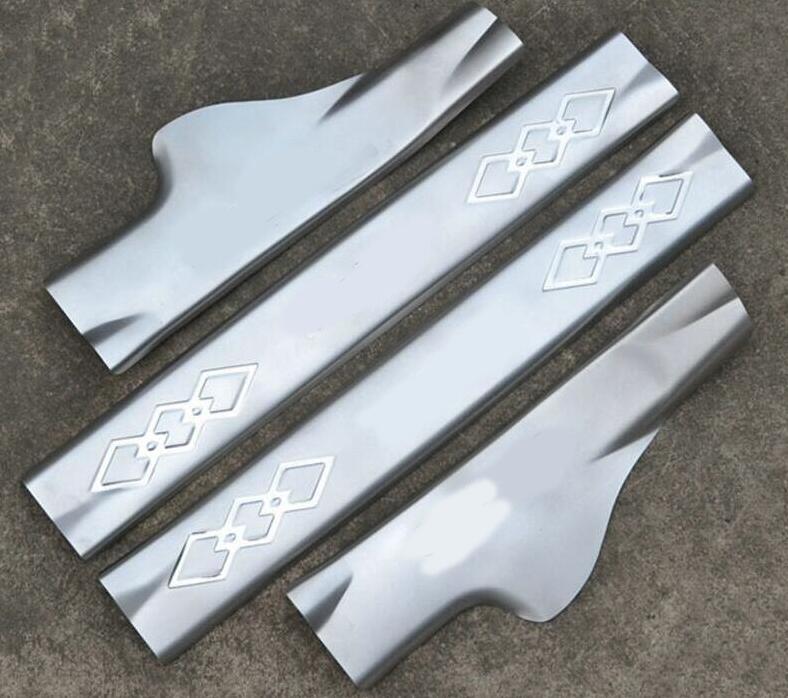 Livraison gratuite pour 2010-2015 pour Hyundai IX35 plaque de seuil en acier inoxydable à l'intérieur du seuil de porte 4 pièces/ensemble de haute qualité