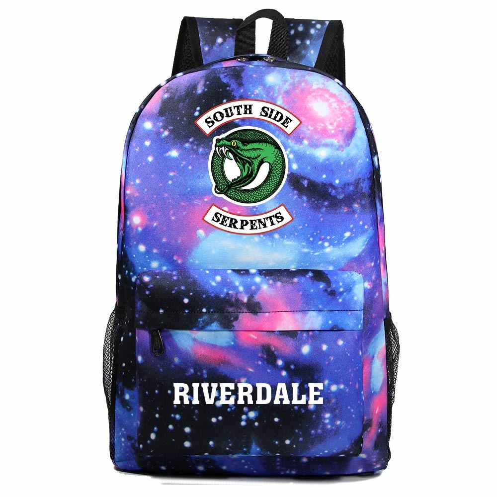 2019 Fashion Serpent Snake Riverdale Light Boy Girl Book School bag Women Bagpack Teenagers Schoolbags Men Student Backpacks