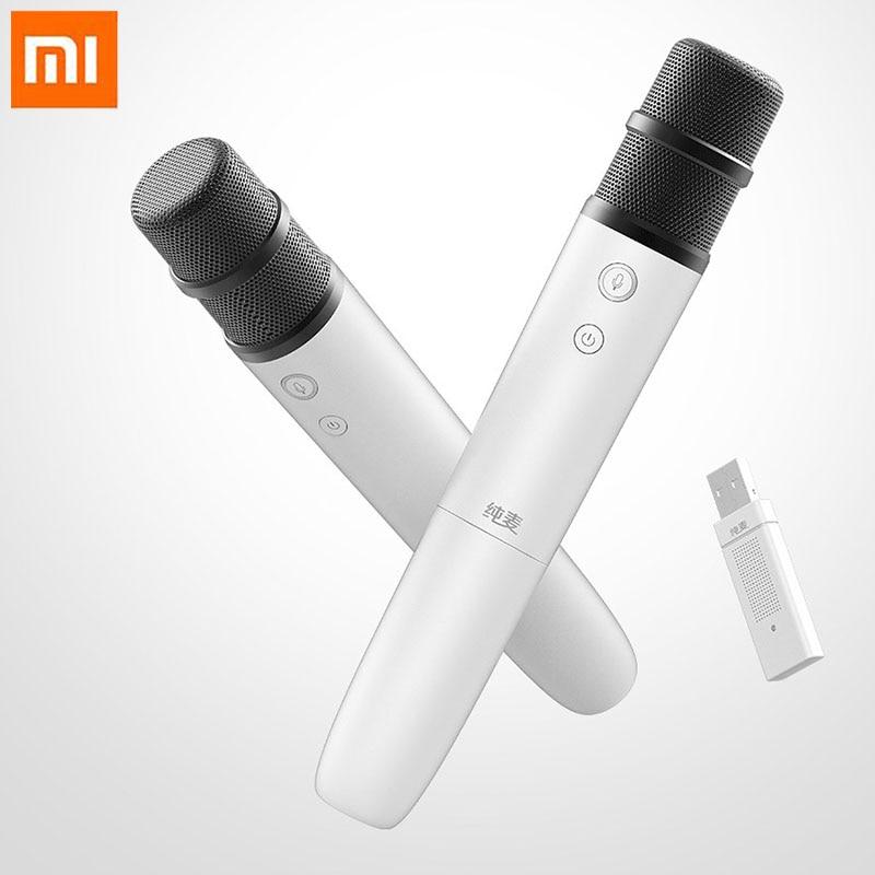 D'origine Xiaomi Pur Blé Intelligent Sans Fil TWS Microphone Intelligente contrôle vocal Maison micro pour karaoké pour Xiaomi TV