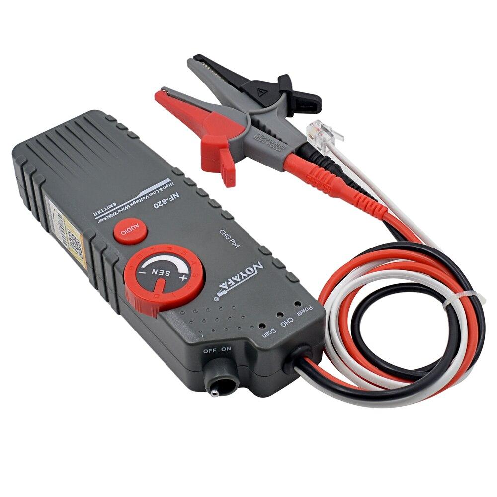 D'origine Noyafa NF-820 Haute & Basse Tension Ligne Trouveur Traqueur De Fil Diagnostiquer Ton Outil Kit LAN Testeur De Câble Réseau - 3