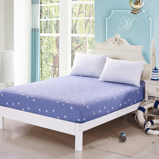 100% Cotton Mattress Protector Cover Anti Dust Mite Bed Cloth Fitted Sheets  Antibacterial Removable Mattress