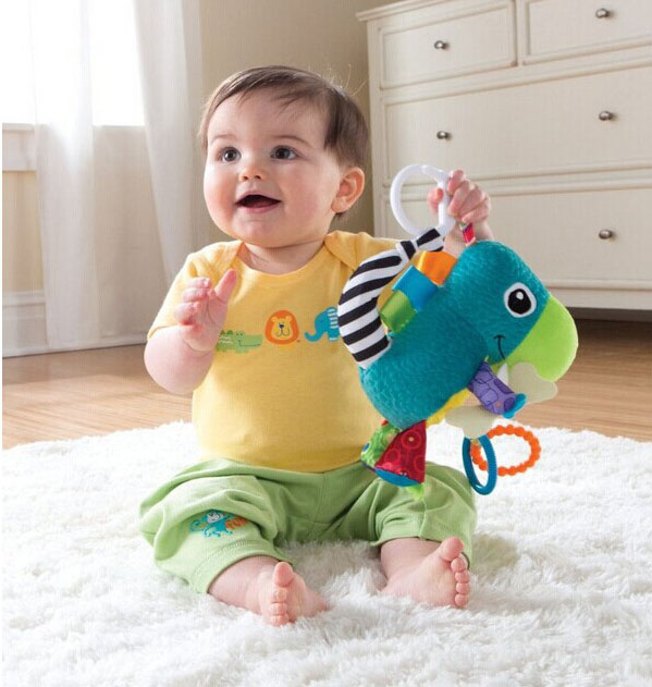 Plush Animal Musical multiuse Stroller Car lathe bed crib Hanging Bell Newborn Baby Educational Rattles Mobile Toys 0 12 months 2016 hot baby infant animal soft rattles bed crib stroller music hanging bell toy dog baby development gifts plush toys