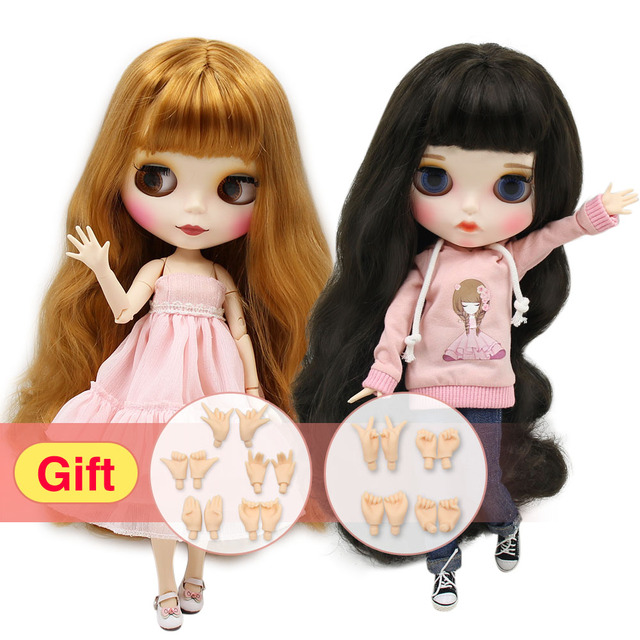Fashion Colorful Hair Blyth Doll with Joint Body for Kids