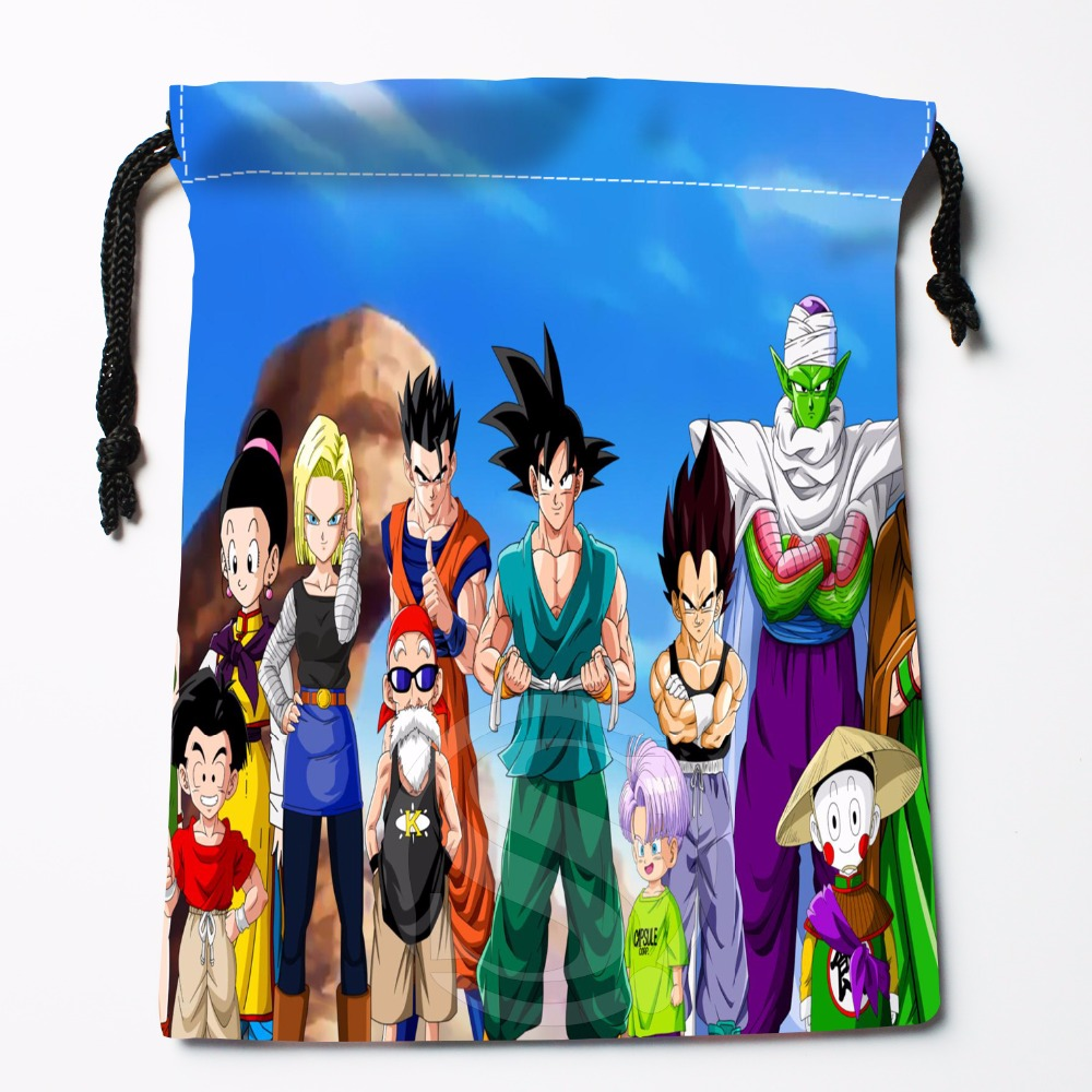 Fl-Q34 New Anime Dragon Ball Z #23 Custom Logo Printed  Receive Bag  Bag Compression Type Drawstring Bags Size 18X22cm 711-#F34