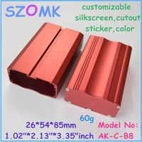 1 pz, 26*54*85mm estruso di alluminio contenitore per pcb scatola di controllo szomk Cina Produttore di alimentazione in alluminio elettronica caso