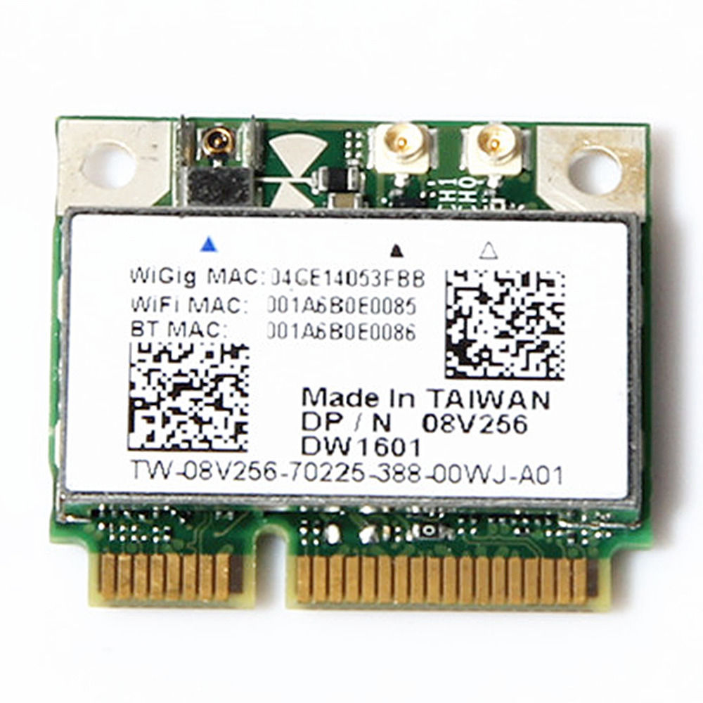 US $9 5 |Wireless Adapter Card for DeLL DW1601 7Gbps WiGig QCA9005 802 11ad  7GBps Wlan Card Latitude E5440 E5540 E6430-in Network Cards from Computer