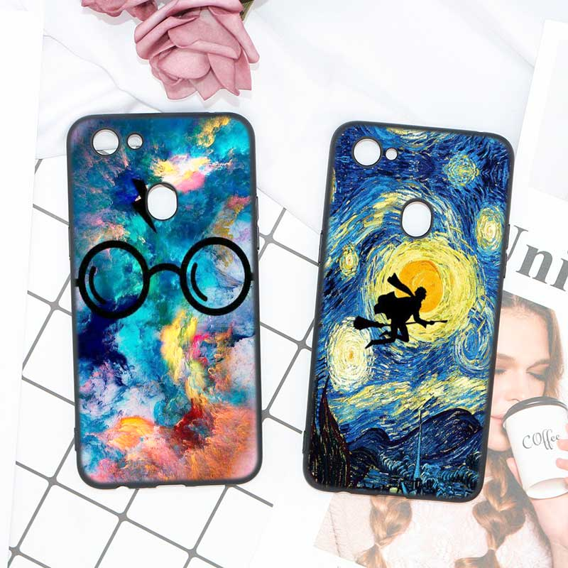 Black Soft Silicone High Quality Phone Cases Always Harry Potter Deathly Hallows Style For OPPO F5 F7 Phone Cases Covers