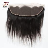 4x13 Oor tot Oor Kant Frontale Sluiting Braziliaanse Virgin Human Hair Straight Natuurlijke Kleur Gratis Deel Middendeel 8-20 inch