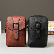 Multifunctional PU leather  Bag Purse messenger Shoulder Bag man belt leather bag 2016 chest pack casual men bag