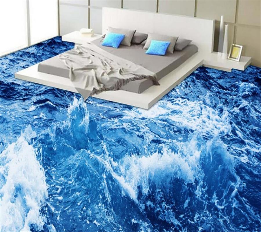 US $18.6 38% OFF|Beibehang Radiant Ozean Welt Waschraum Badezimmer 3D Boden  Wohnzimmer Schlafzimmer Boden Malerei 3D Outdoor Malerei Bodenbelag ...