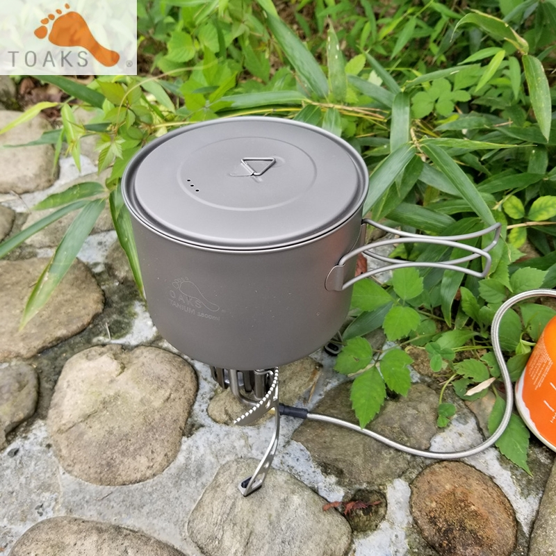 1600ml TOAKS Titanium Pot Pure Titanium Camping Cookware Outdoor Pot Can be Used As a Cups Bowls and Pans 194g POT-16001600ml TOAKS Titanium Pot Pure Titanium Camping Cookware Outdoor Pot Can be Used As a Cups Bowls and Pans 194g POT-1600