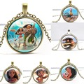 Hot sale High Quality 2016 New Arrival Moana Anime film Glass Necklaces & Pendants Children Christmas gifts NN032