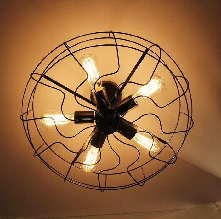 Aliexpress Com Buy 5 Light Loft Vintage Fan Ceiling Lamp