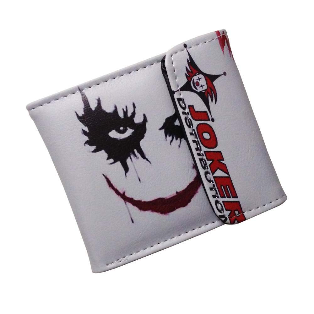Movie The Dark Knight The Joker High Quality PU Short Bloody Wallet/Monochrome Purse with Button gravity falls high quality pu short wallet folding purse with button