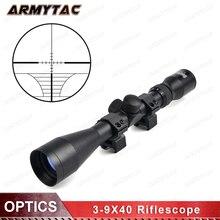 Оптика 3-9X40 тактический прицел Оптический Снайперский олень прицел охотничьи прицелы Airgun винтовка наружная Сетка прицел