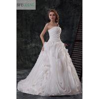 Top Organza Draped Corset Weddingdress Ballgown White Ivory Red Vera Custom Made