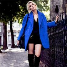 New Winter Coat Women Thick Long Woolen Coats Female Lapel Europe Style Loose Women's Overcoat Fashion Jacket Outerwear C1183