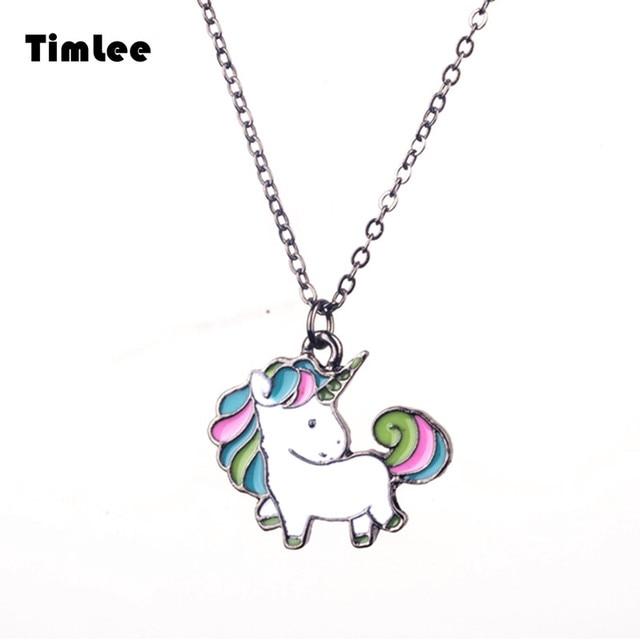 Timlee N056 Free shipping Cartoon Cute Rainbow Horse Unicorn Design