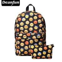 Deanfun 3D Printing Emoji Backpack Fashion Youth Schoolbags For Teenager Girls Boys TZ1
