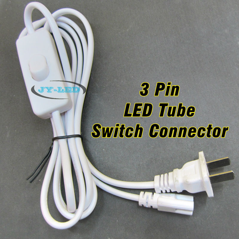 1.8 Meter T5 <font><b>T8</b></font> LED Tube Power Switch Connector Cable Rope with US <font><b>Plug</b></font> For 5730 2835 3014 LED Tube image