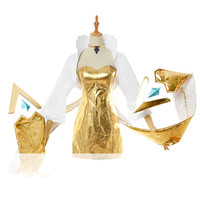 Anime cosplay LOL KDA cosplay costume Evelynn costume perfectest dress singer newest golden skin women cosplay A