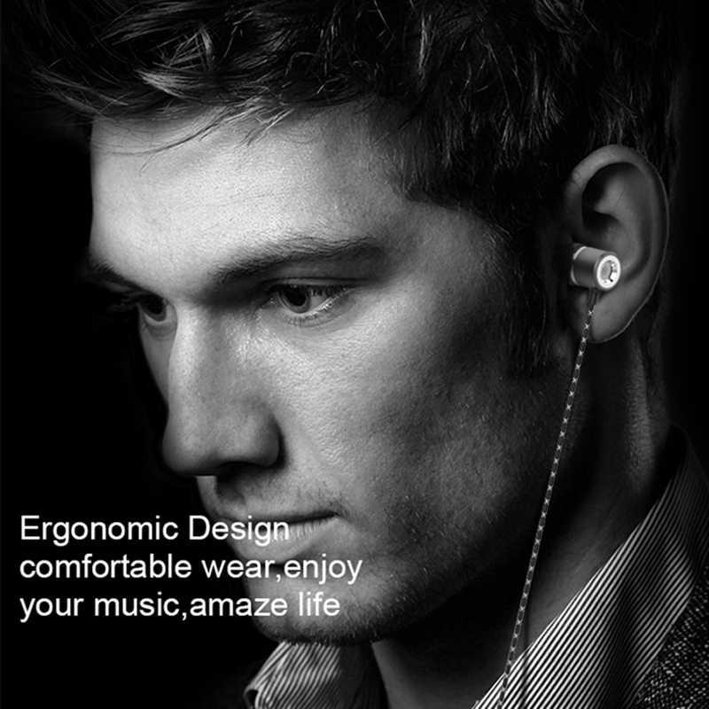 الأصلي 3.5 مللي متر المعادن في الأذن سماعة أذن سلكية HiFi ستيريو باس سماعة سماعة رأس بمايكروفون للهاتف سماعة رأس للكمبيوتر