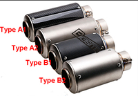 Inlet Inner Diameter 61mm 2 4 Motorcycle Exhaust Pipe SC Competitive Pipe Large Displacement AR Exhaust