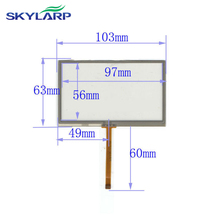4.3 inch 103mm*63mm 4 wire TOUCH SCREEN for gps glass 4043058 4.3 touch panel 103*63mm touch panel Glass Free shipping