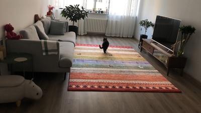 Grand grande taille Chambre tapis de salon 3D Moderne Mode Machine Lavable Bureau tapis de yoga Antidérapant Rides Résistant Tapis