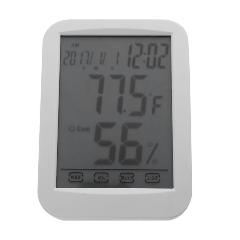 Touch Screen font b Digital b font font b Thermometer b font Hygrometer Humidity Temperature Gauge