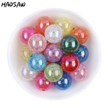 20mm 100 pçs/lote moda escolher cor gumball bubblegum acrílico claro ab contas de crack colorido contas grossas para colares jóias