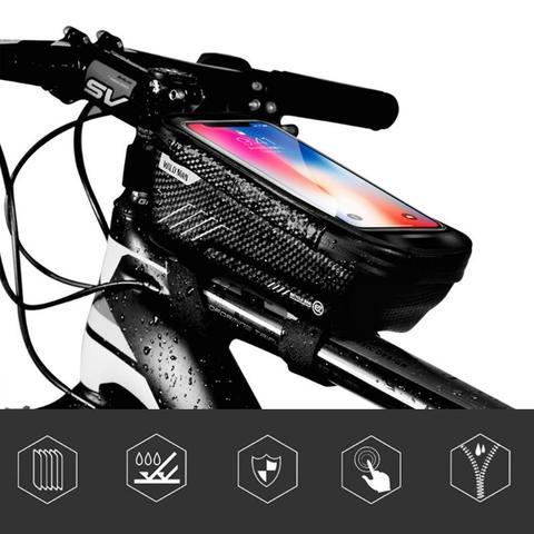 WILD MAN Mountain Bike Bag Rainproof Waterproof Mtb Front Bag 6.2inch Mobile Phone Case Bicycle Top Tube Bag Cycling Accessories Pakistan