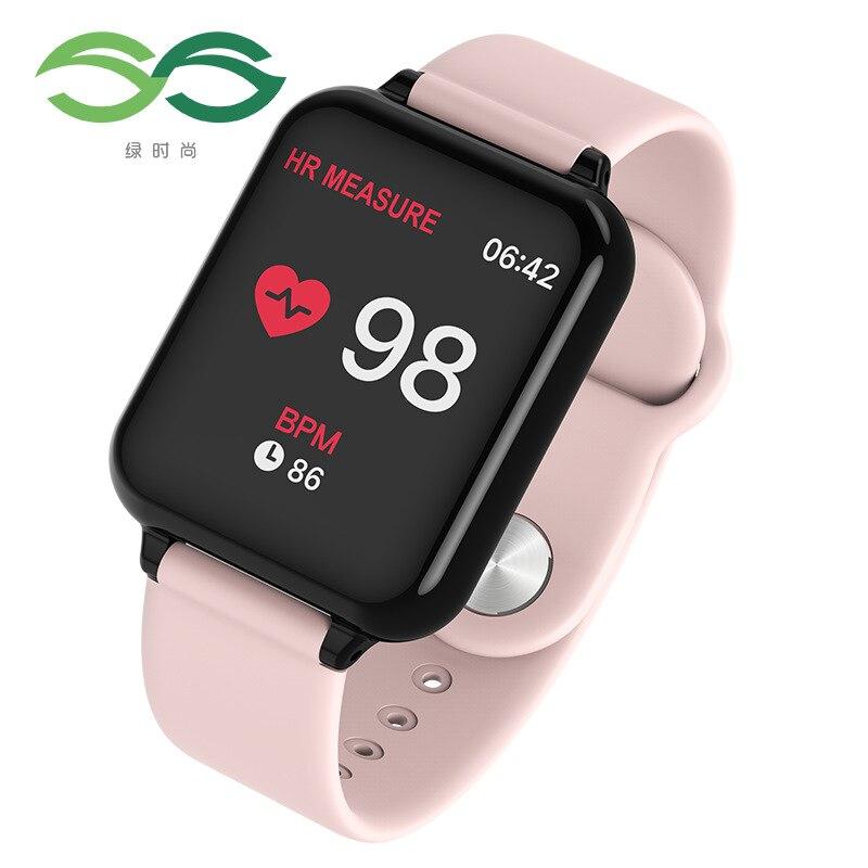 Femmes montres intelligentes étanche PU bande numérique Sport montre Bracelet femmes moniteur de fréquence cardiaque pression artérielle Bluetooth Smartwatch