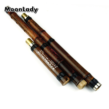 Chinese Traditional Flute Xiao Key G Handmade Bamboo 3-section White Brass Free Shipping Wind-instrument