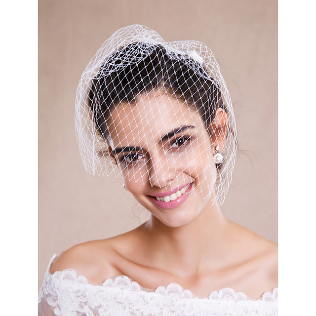 LAN TING BRIDE One Tier Raw Edge Wedding Veil Blusher