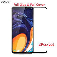 2PCS Glass For Samsung Galaxy A60 Phone Screen Protector Full Glue Tempered