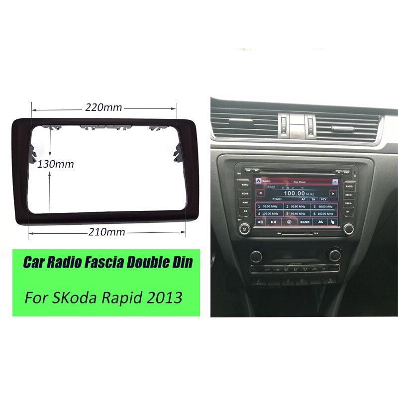 ITYAGUY Car Radio Fascia Frame Panel Dash Mount Kit Adapter Trim For SKoda Rapid 2013+