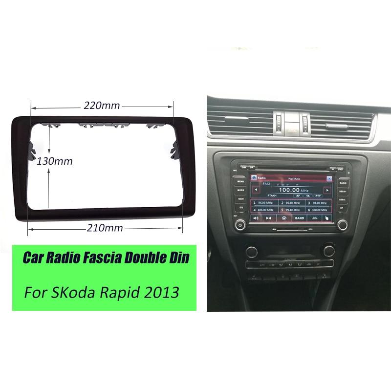 Prix pour ITYAGUY Voiture Radio Fascia Cadre Dash Panel Kit Adaptateur Garniture Pour SKoda Rapid 2013 +