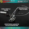 Высокая Производительность PZ30 KEIHIN 30 мм Карбюратор Мощность Джет Ускорительного Насоса + Visible Дроссельной Заслонки Twister + Двойной Кабель ИРБИС