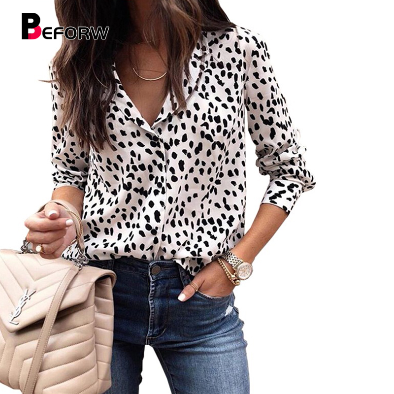 2018 Fashion Women Leopard Print   Blouse     Shirt   Autumn Winter Long Sleeve   Blouses   Womens Casual Elegant Tops And   Shirts
