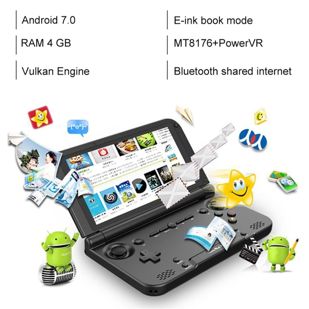 EU Plus GPD XD PLUS 5 Inch Touchscreen Quad Core CPU Mali-T764 GPU 2GB RAM 32GB ROM Handheld Game Player Handheld FlipEU Plus GPD XD PLUS 5 Inch Touchscreen Quad Core CPU Mali-T764 GPU 2GB RAM 32GB ROM Handheld Game Player Handheld Flip