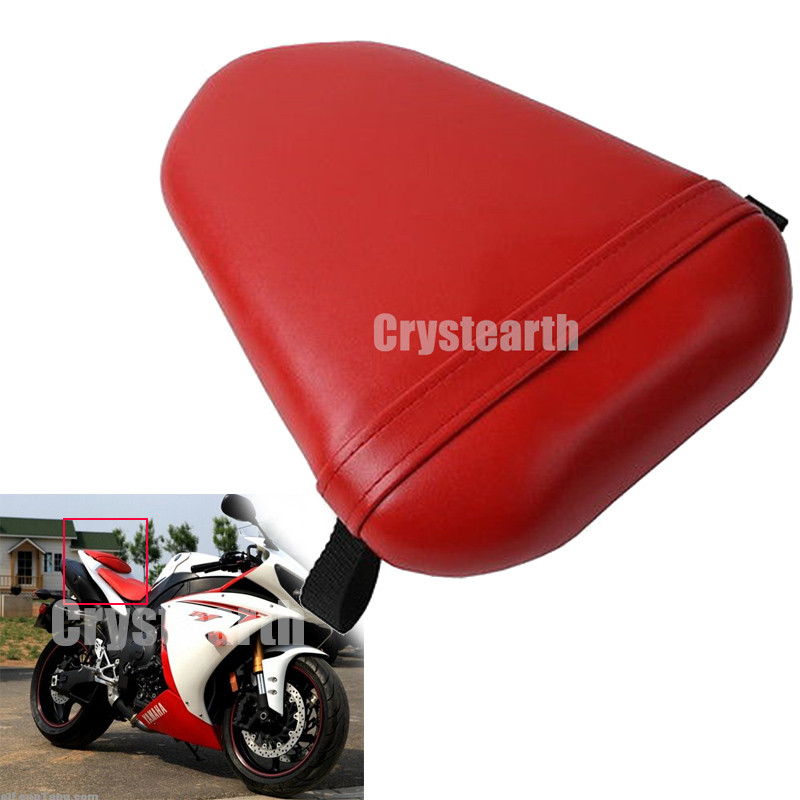 Red Motorcycle Rear Passenger Seat Pillion Cushion Pad For Yamaha YZF R1 2007-2008 YZFR1 YZF-R1 07 08