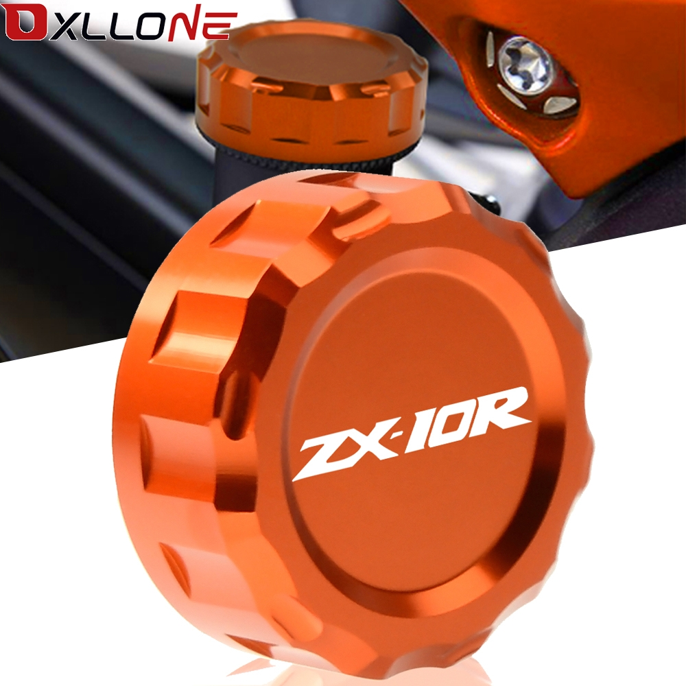 Motorcycle Rear Aluminum CNC Motorbike Brake Fluid Cap Cylinder Reservoir Cover For Kawasaki <font><b>ZX10R</b></font> ZX 10R <font><b>2008</b></font> 2009 2010-2014 image