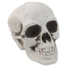 Plastic Skeleton Head Model Human Mini Skull Decor Prop Halloween Coffee Bars Ornament  Teaching equipment