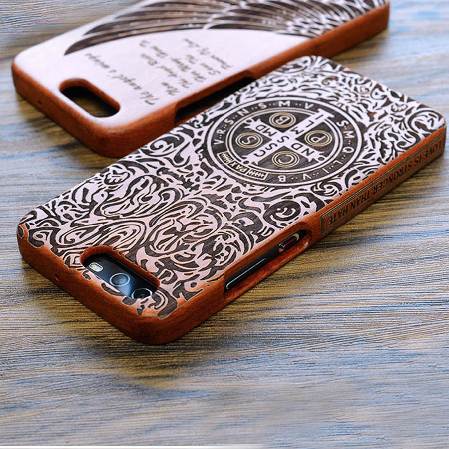 Custom DIY Carved Natural Wood Phone Case For Huawei Mate 10 Mate 9 P10 P9 Plus Honor 8 Honor 9 Honor9 Customized Back Cover