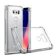 Için LG V20 V30 V40 G7 thinq Fit G6 K4 K8 K10 K11 2017 2018 Kristal Temizle hava yastığı Darbeye Dayanıklı Ince kılıf Silikon Je...
